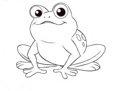 Frosch Tiervorlagen Frosch Malvorlagen Frosch Zeichnung