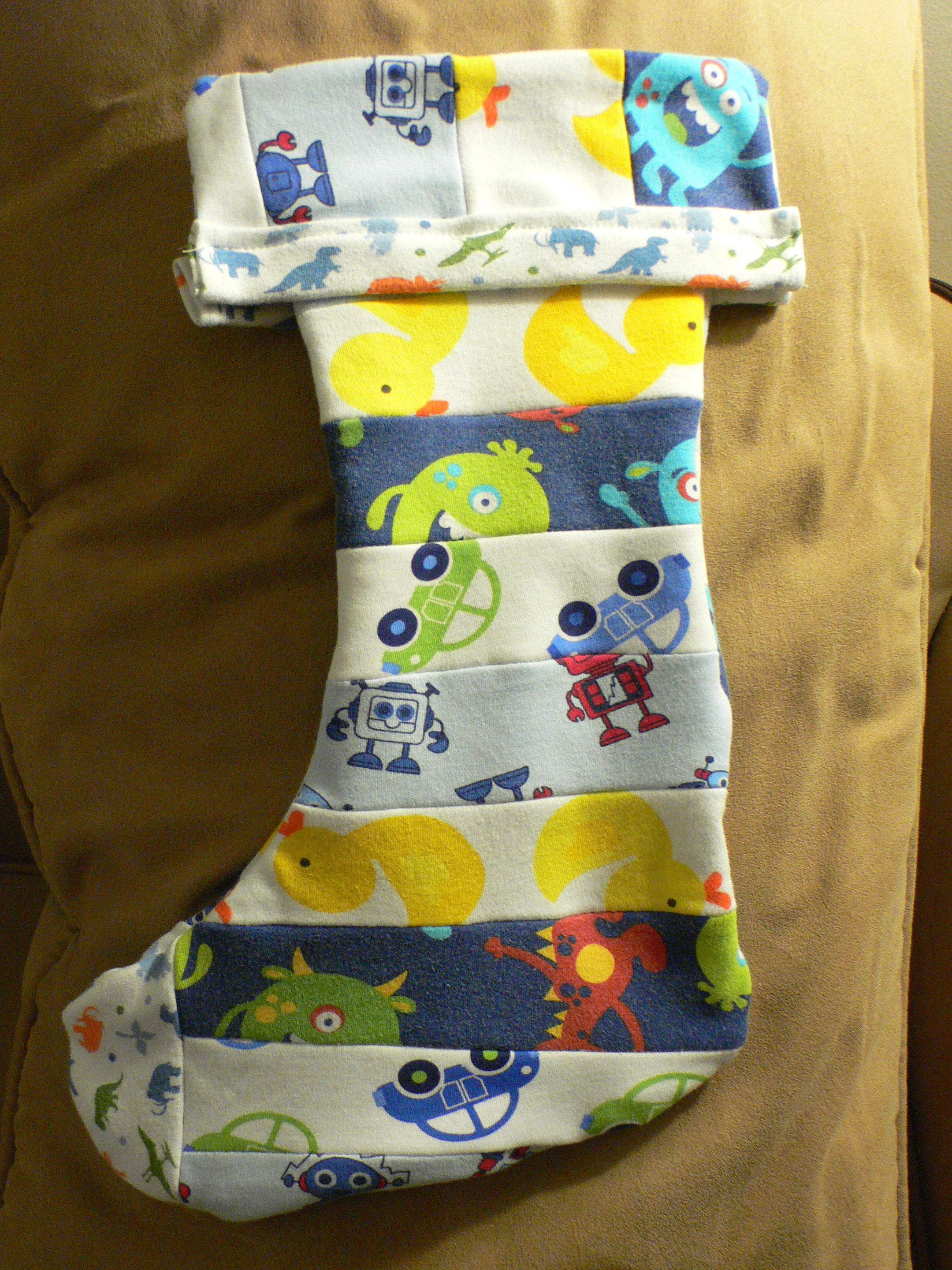 Gabes Christmas Stocking I Used Fabric From Five Sleepers That