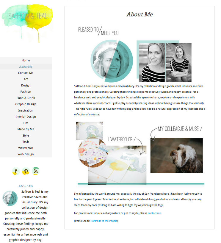 Client Websites And About Me Pages Portraits To The People Blog Web Marketing Social Media Blog Web Design