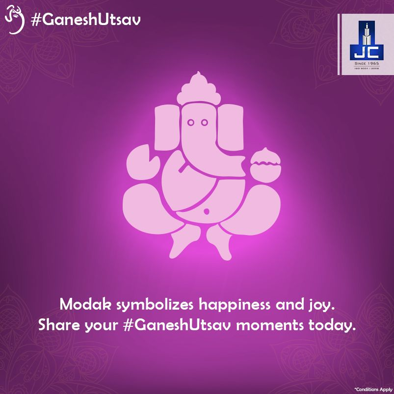 Modak symbolizes happiness and joy, which a seeker derives from the spiritual pursuit. If you are one of those who love modaks, just like Lord Ganesha, share the celebration image of #GaneshUtsav to win an amazing shopping voucher.