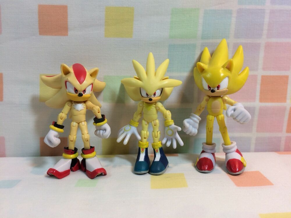 Sonic The Hedgehog Sega Jazwares Super Sonic 3 Articulated Action Figures Lot Action Figures Sonic The Hedgehog Sonic
