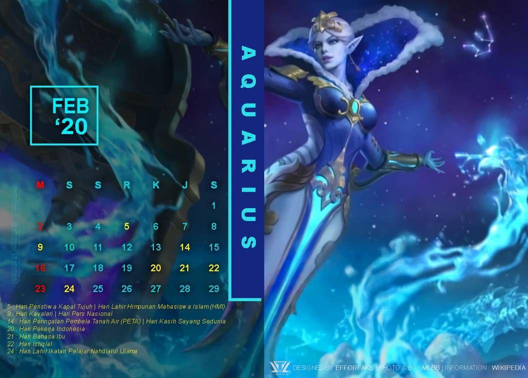 February 2020 Mobile Legends Calendar By Efforfake On Deviantart In 2021 Mobile Legends Computer Photo Schedule Design