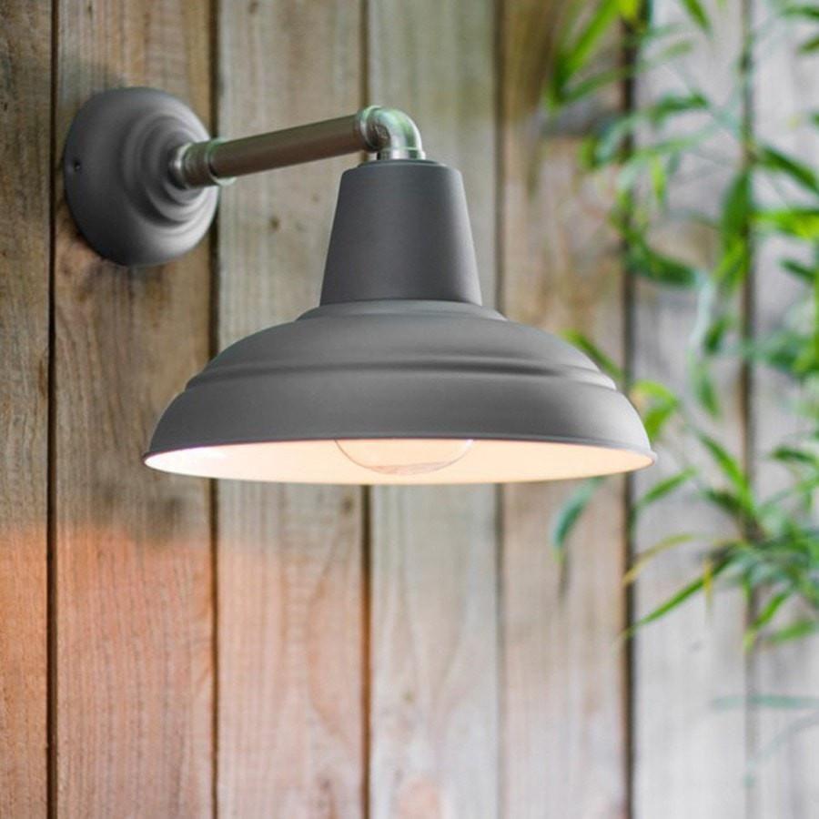 Industrial Exterior Metal Wall Light In Charcoal Indoor Wall Lights Industrial Wall Lights Outdoor Wall Lighting