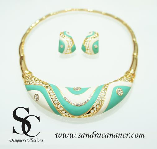 Juegos de Joyería y Bisutería Fina Sandra Canan Costa Rica necklace swarovski crystal jewelry fashion www.sandracanancr.com