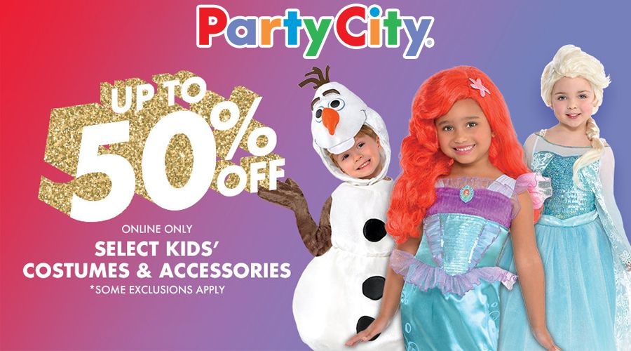Online Only! Take up to 50 #off select kids\u0027 costumes  accessories - party city store costumes