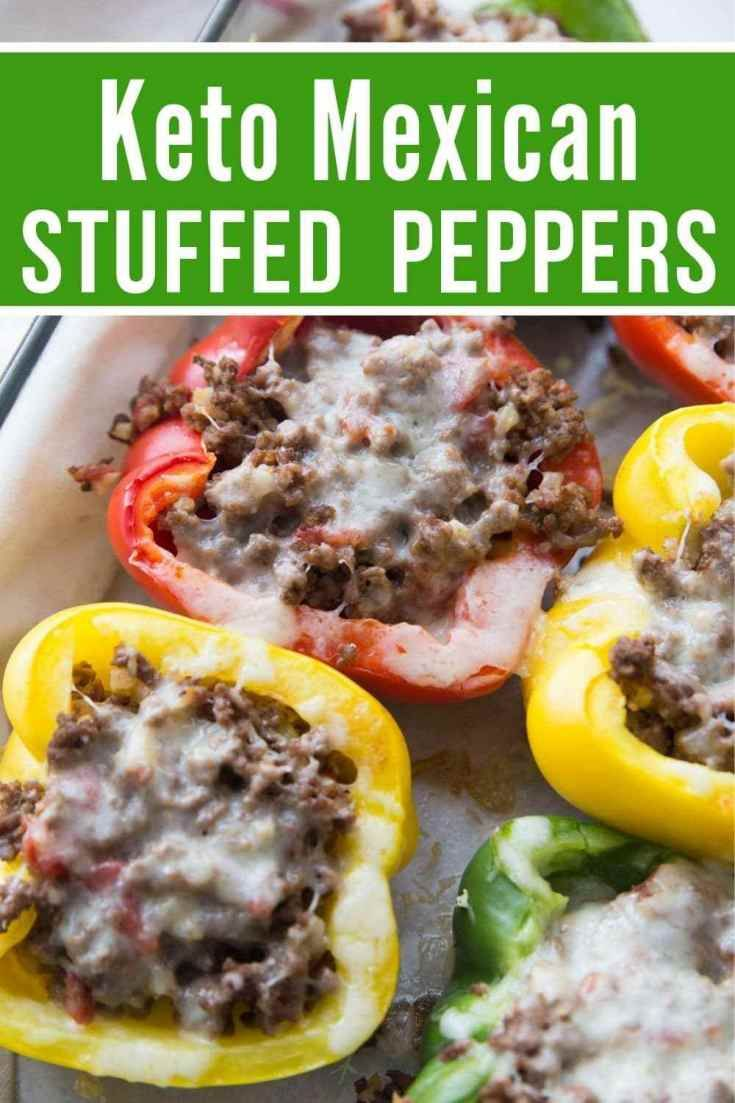 Keto Stuffed Peppers Mexican Style Recipe Stuffed Peppers Keto Stuffed Peppers Recipes