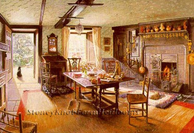 Victorian Sitting Room ~ Vintage History ~ DIY Counted Cross Stitch Pattern