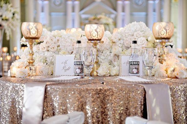 White, Silver & Gold Wedding at The Biltmore Ballrooms in Atlanta ...