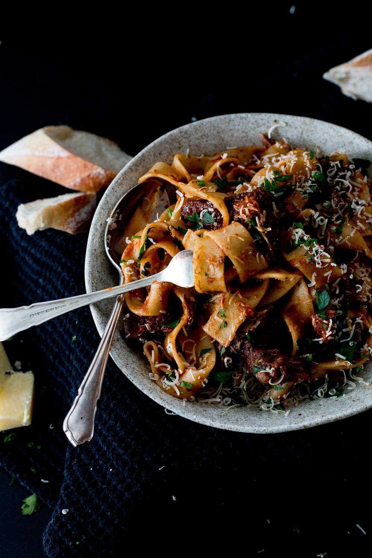 Slow Braised Beef Cheek Ragu With Parpadelle Recipe Slow