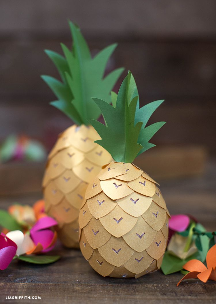 Diy pineapple party decor svg file free printable and for Ananas dekoration