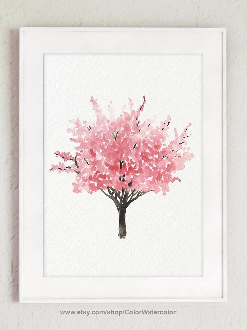 Cherry Blossom Cherry Blossom Decor Cherry Blossom Tree Etsy Cherry Blossom Art Cherry Blossom Decor Blossoms Art