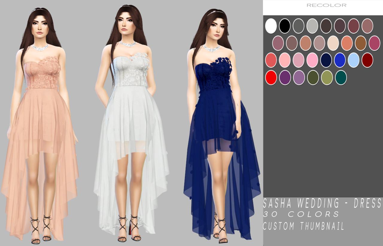 Pin by Marta Jańczak on TS4 CC Sims 4 wedding dress Sims 4