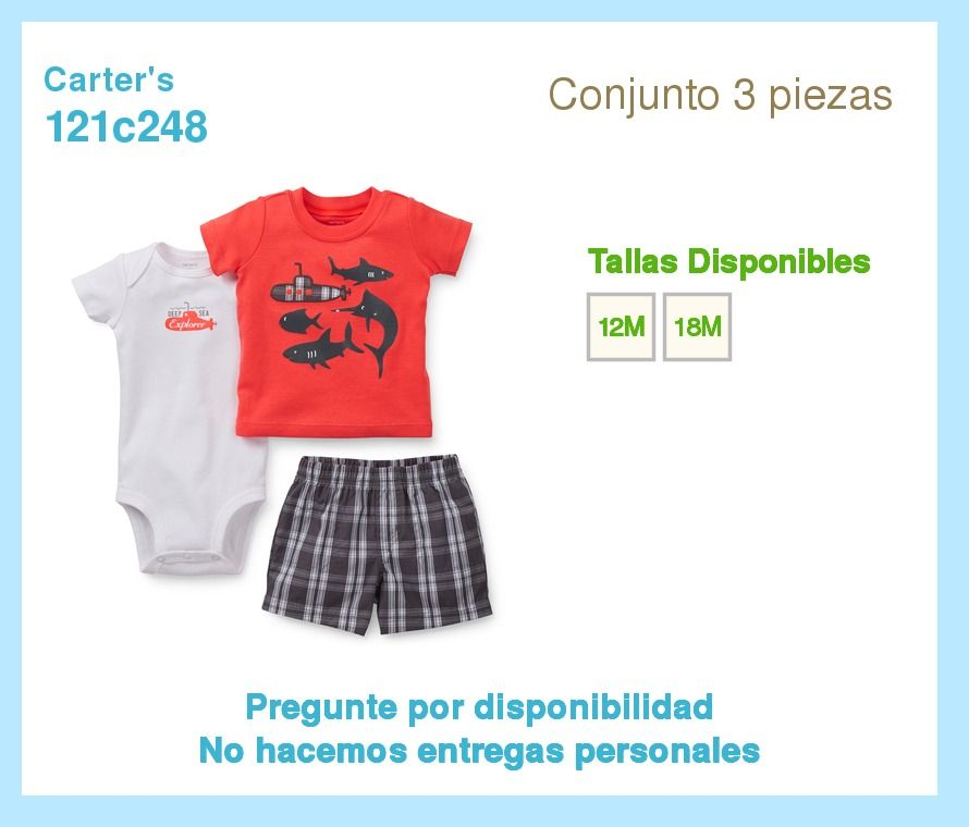6176f0eb3 Ropa Carters. Para Bebes. Varones Y Hembras. Niños Y Niñas - BsF 1.699,00  en MercadoLibre