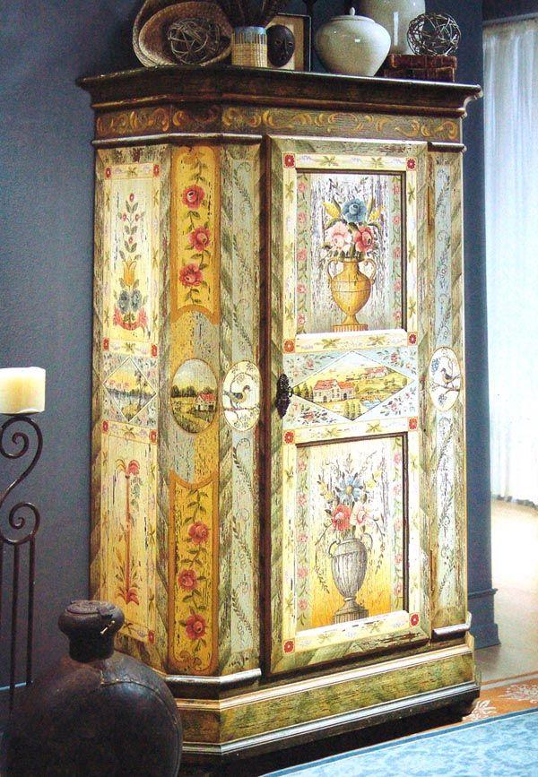 Decorar con muebles antiguos armario bonitas pinterest - Muebles estilo antiguo ...