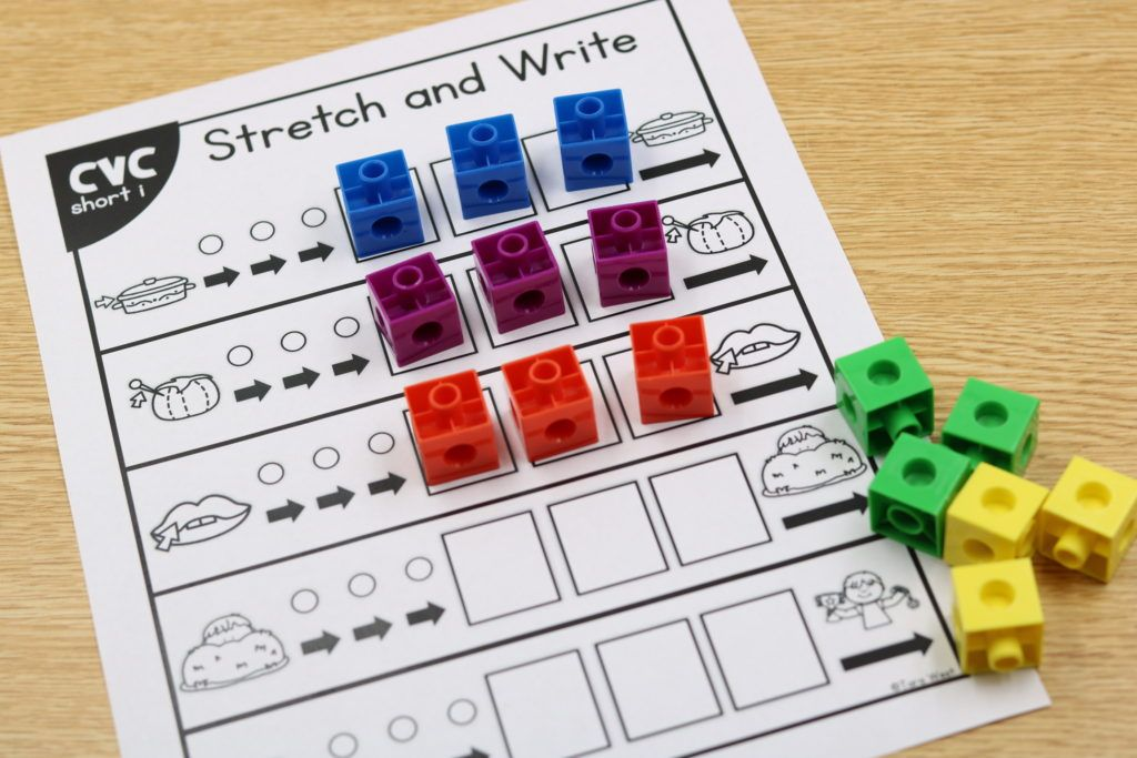 CVC stretch and write using snap cubes is another great way to keep them engaged.