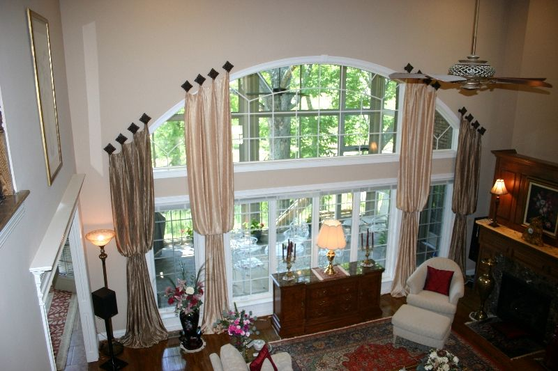 arch window   Window treatments living room, Window ...