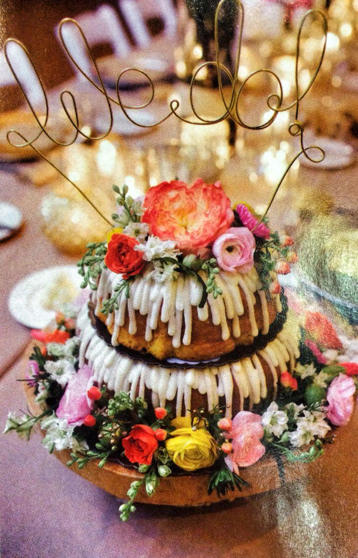 Nothing Bundt Cakes Wedding Cake I Do Wedding Cake