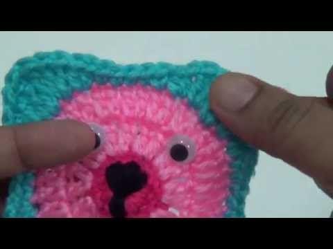 Crochet Teddy Bear Granny Square Baby Blanket   Häkelmuster und Häkeln