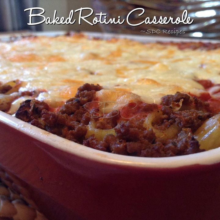 Baked Rotini Casserole  <3 If you are not FOLLOWING ME already -- WHY NOT??!! lol Make sure you click FOLLOW at the top of my page!  <3  For the rotini... 1 bag rotini pasta 1 tsp Italian seasoning... 1/2 tsp sea salt 1 tsp garlic powder 1 tsp black pepper 1/4 cup grated Parmesan cheese Extra virgin olive oil to grease casserole dish  In a large pot of water, add all the seasonings and pasta... Boil for 5-7 minutes (partially cooked). Drain, cold water rinse and toss in Parmesan cheese…