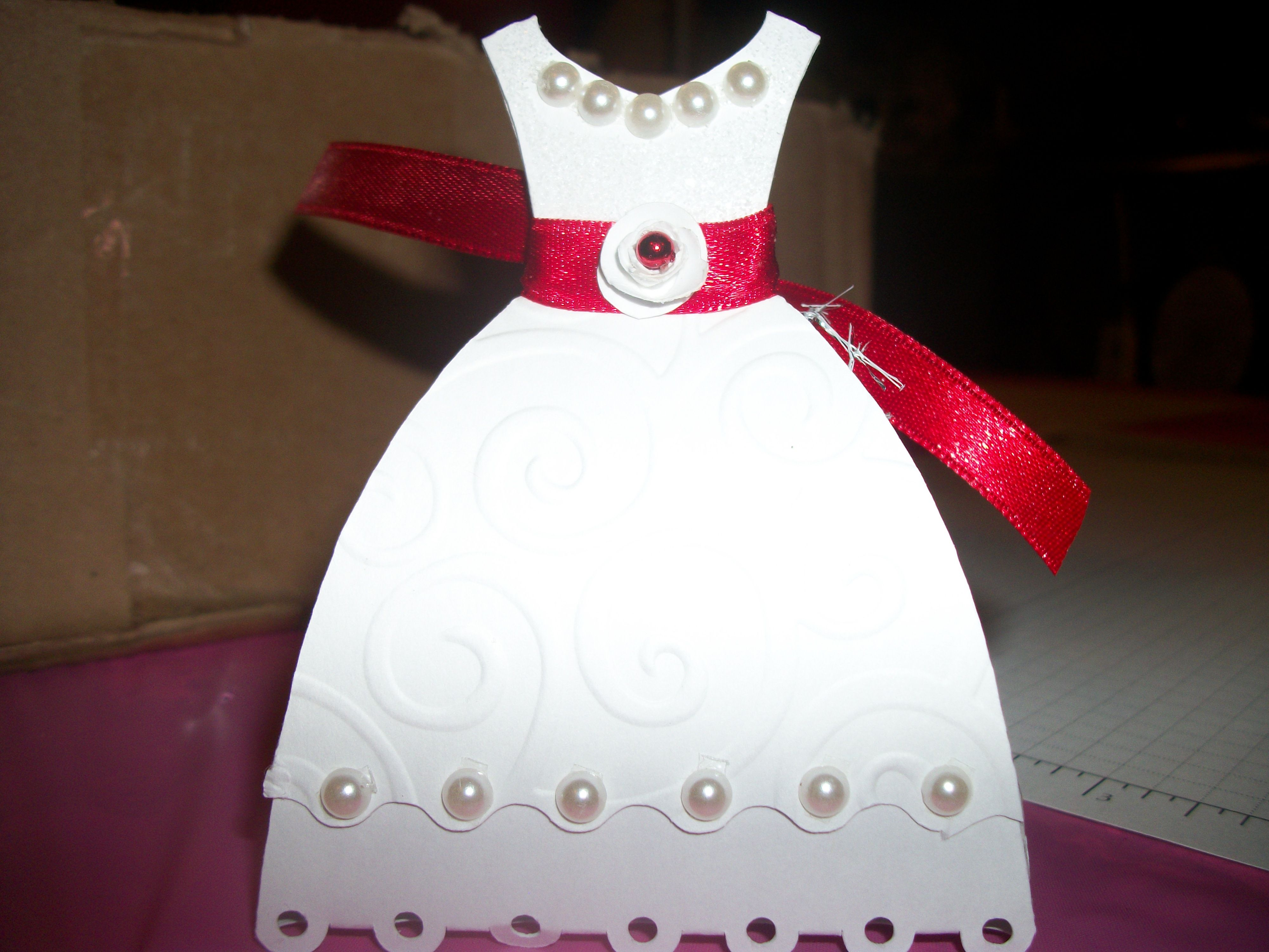 full view of dress favor box | things I have made | Pinterest | Box