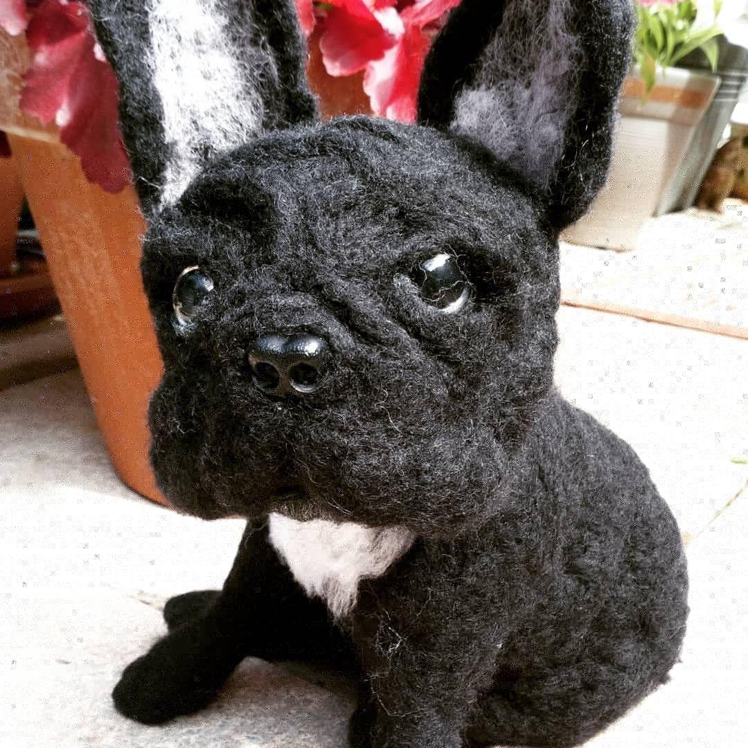Needle Felted French Bulldog Suestails On Instagram Debbie
