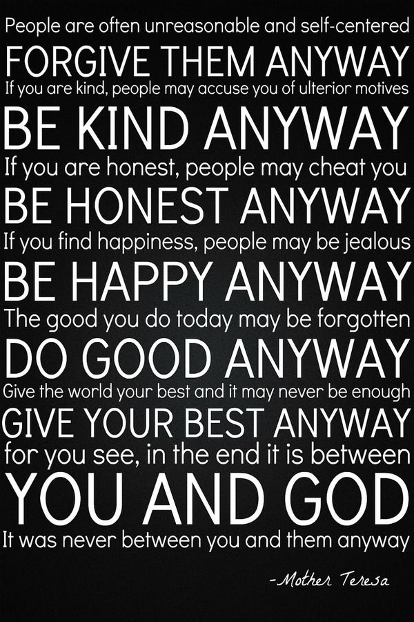 Between Me And God   One Of My LONG Time Favorite Mother Teresa Quotes