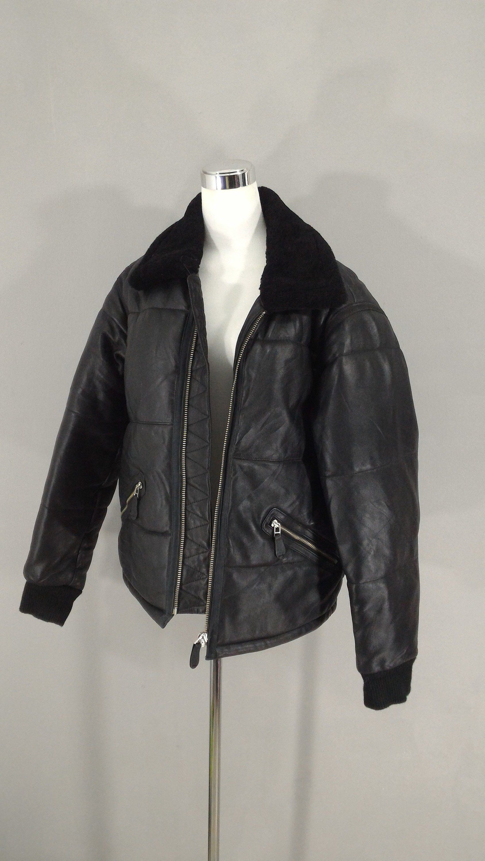 8892c04f64f Genuine Leather Jacket Real Fur Collar Men Black Sheepskin Winter Leather  Coat Men Classic
