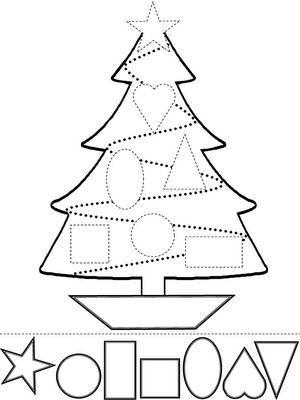 Formas Geometricas Natal5 Desenho De Natal Artesanato Natalino
