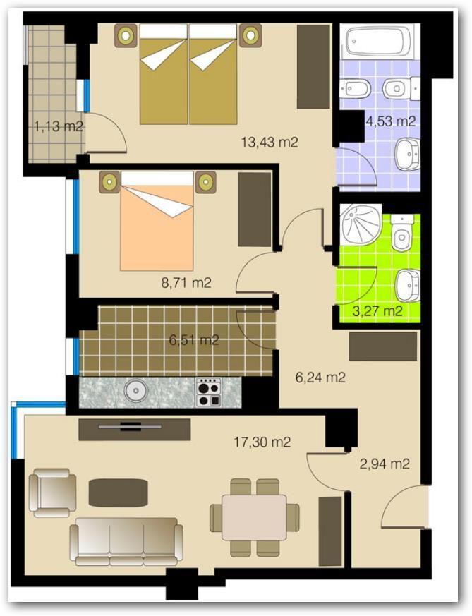 Plano De Departamento Con Medidas Planos Para Casas