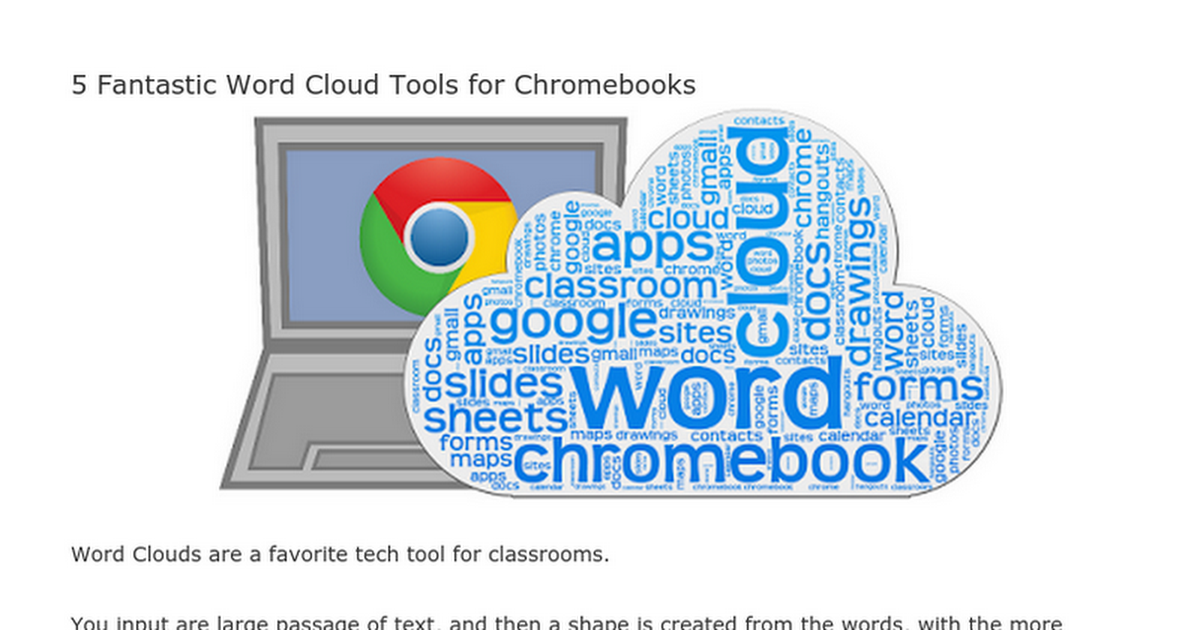 Word Cloud generators that work on Chromebooks | Word Cloud ...