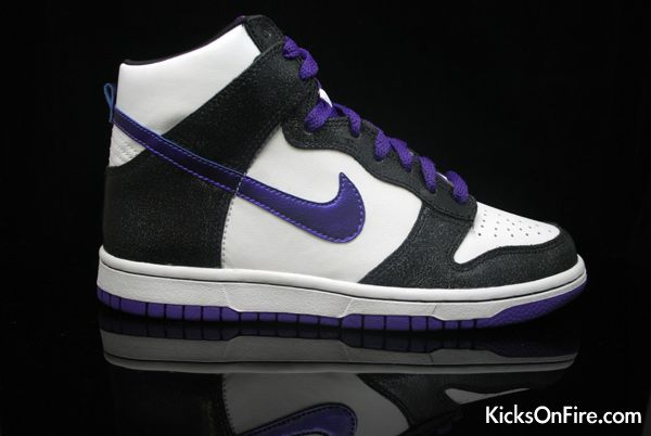 Discount Authentic Mens Nike Dunk High Shoes Baby Purple/White