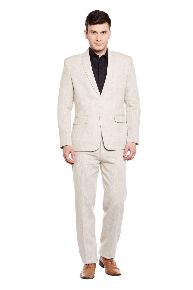 Slim-Fit Plaid Suit Vest Beige #menssuits | Fashion suits
