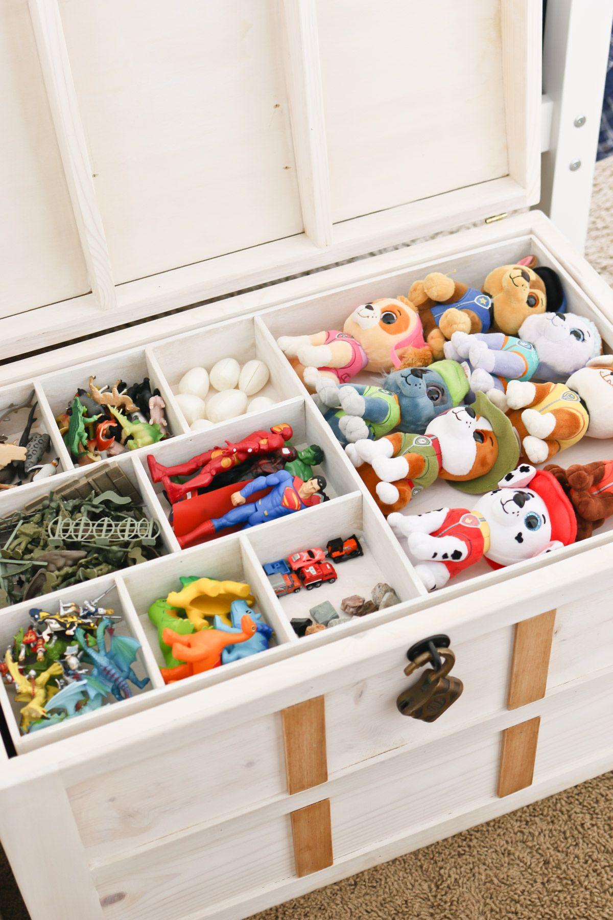 Diy Toy Storage Treasure Chest Diy Toy Storage Kid Toy Storage Toy Storage