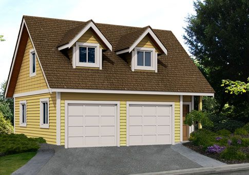 The Corbin home kit from Linwood Homes is a double-car garage and ...