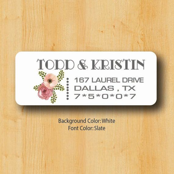 Return address sticker custom stickers by toodleloows on etsy