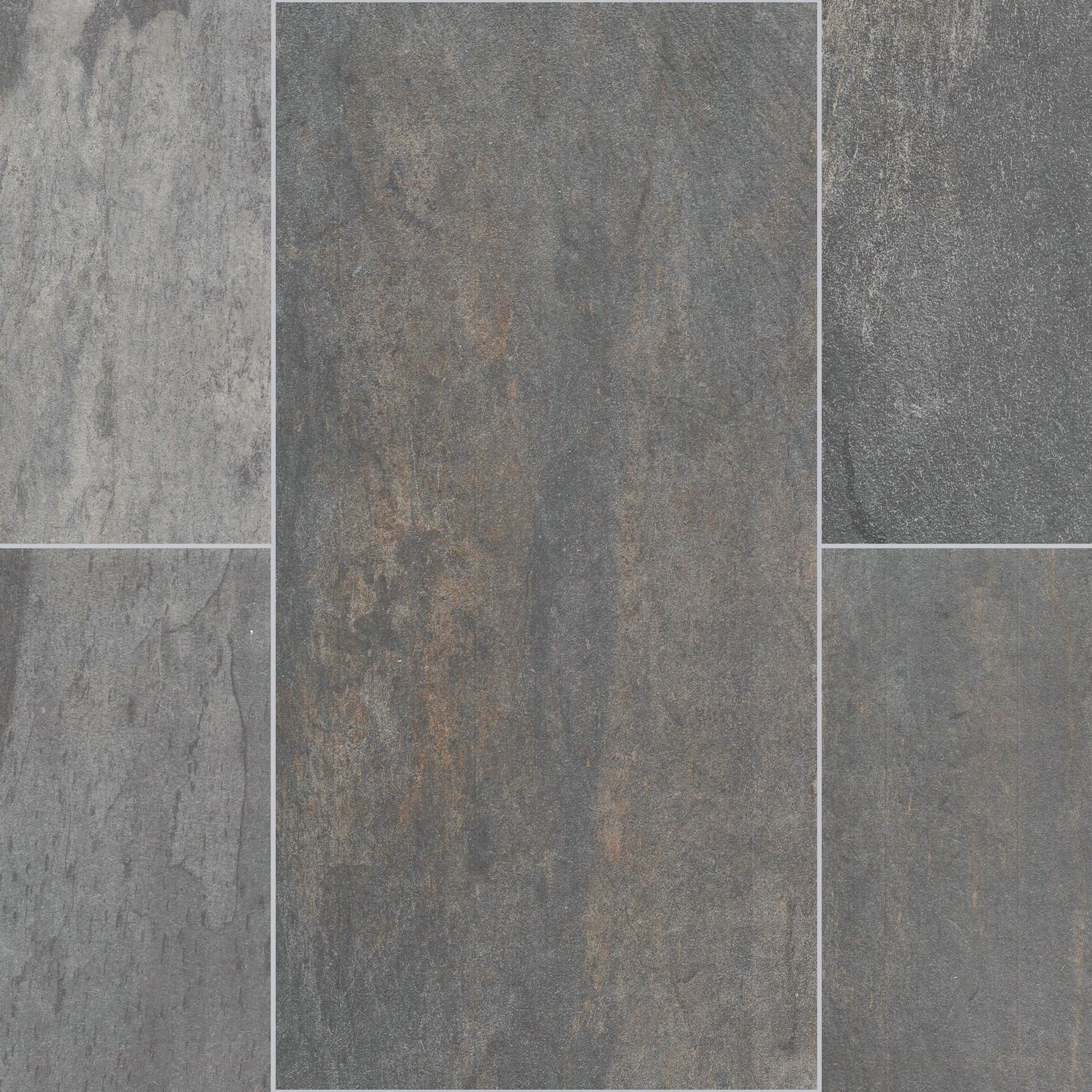 Florida Tile Slate Gray Glazed Porcelain Tile Gray Flooring Trends