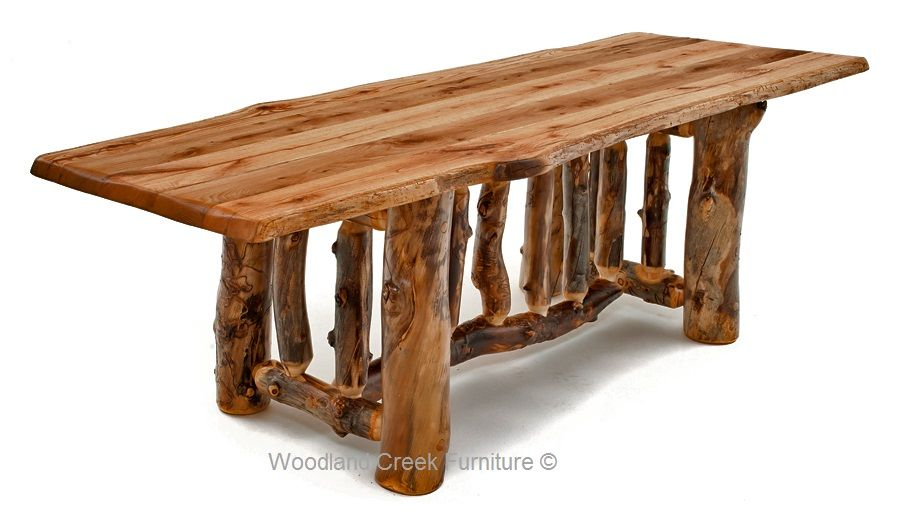 Log Dining Furniture Dining Table Reclaimed Wood Tables