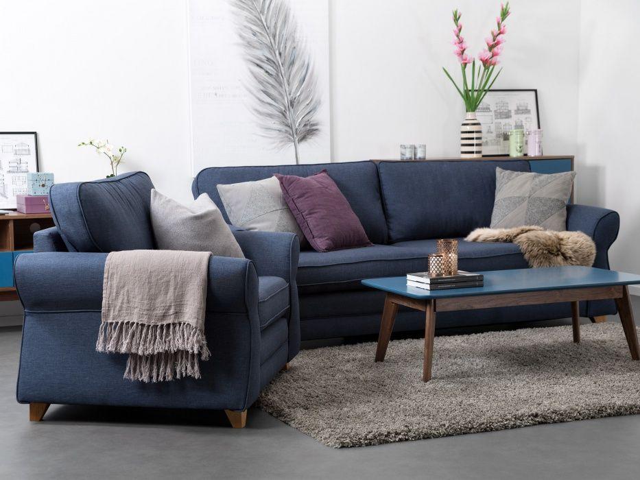HABANA Sofabord 120 Valnøtt/Blå - Stuebord - Bord - Innendørs