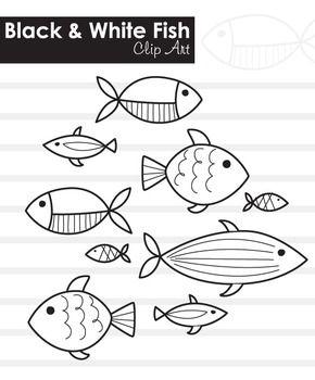 Black And White Fish Clip Art Line Art Easy Fish Drawing Clip Art Fish Drawings