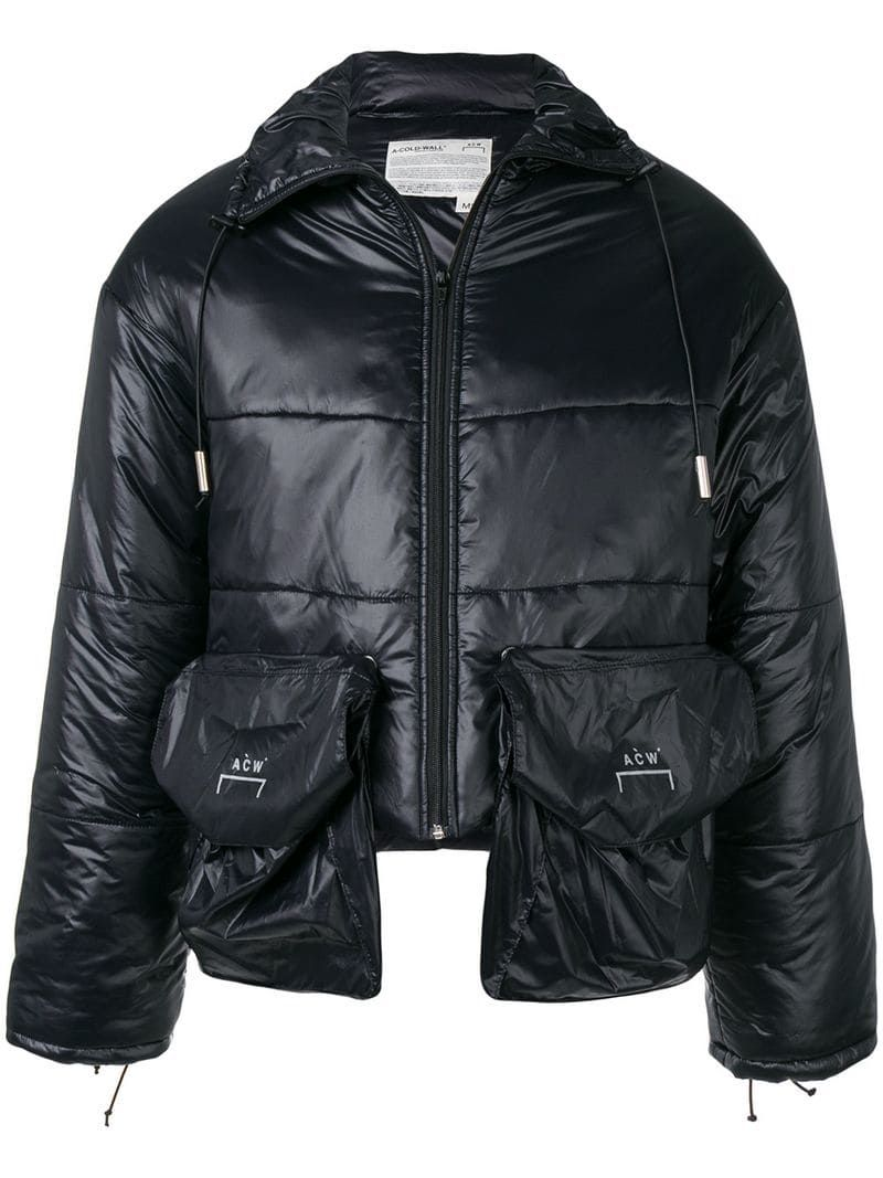 A COLD WALL* cropped puffer jacket Black | Designer