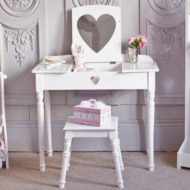 Maisie Dressing Table Stool Set White Girls Dressing Table Dressing Table With Stool Childrens Vanity Table