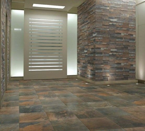 Florida Tile Legend 12 x 12 and Split Face Mosaic Porcelain in Color
