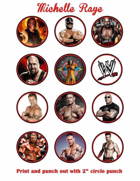 WWE printable cupcake toppers Printable WWE Cupcake Toppers