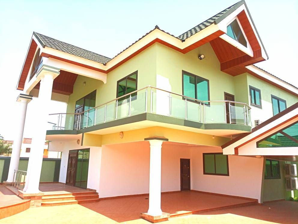 Newly Built 4 Bedroom House For Rent At East Legon American House Renting A House American Houses 4 Bedroom House