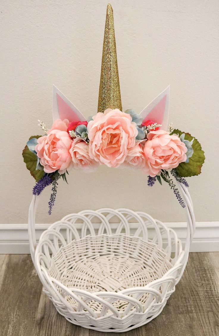 Diy floral unicorn easter basket easter easterbasket unicorn diy floral unicorn easter basket easter easterbasket unicorn floral diy negle