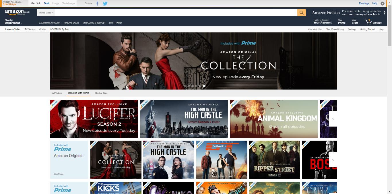 Prime Instant Video Amazon Instant Video Amazon instant