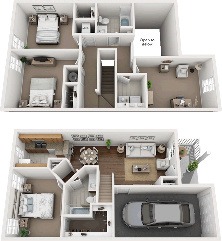 3 Bedroom 2 Bath W Den 1360 Square Feet In 2020 Small House Layout Sims House Design House Layout Plans