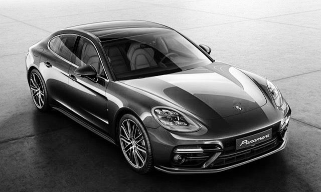 black and white photography porsche panamera