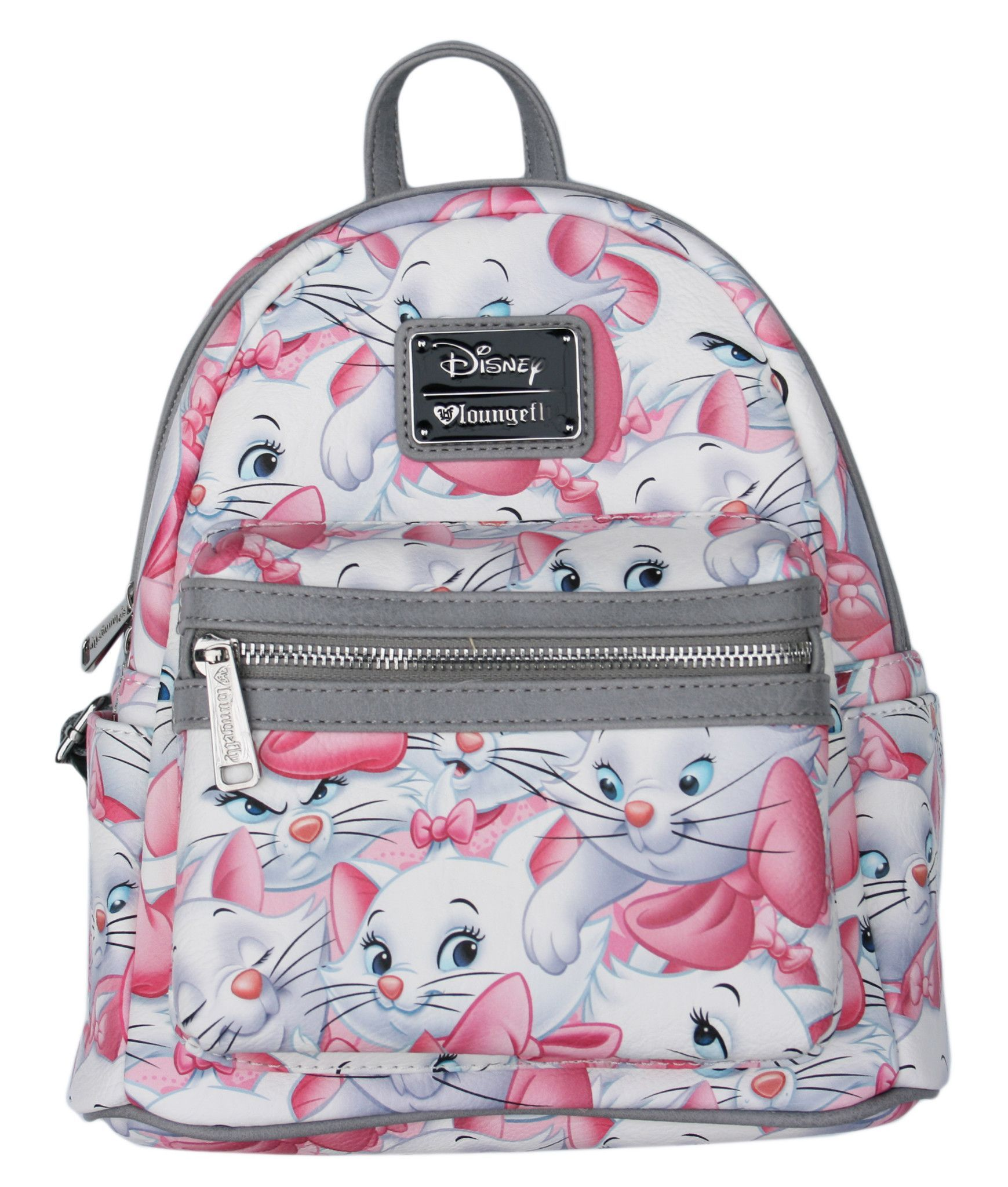 eef69780fa8 Loungefly Disney Marie Aristocats Cat Pink   Grey Mini Backpack Purse