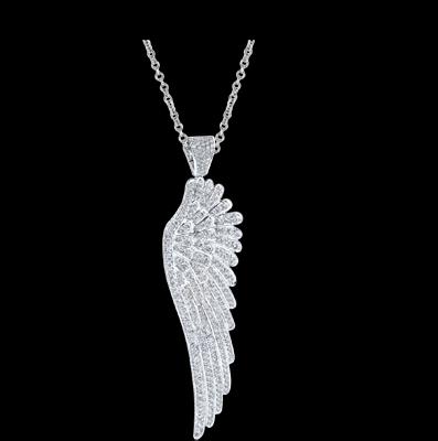 White Gold And Diamond Wing Pendant From Garrard Diamond Jewelry Wing Pendants